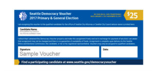 Democracy Vouchers, sample voucher